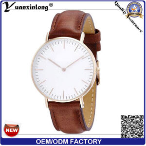 Yxl-646 IP Plating Cute Fashion Dial Element Geuine Leather Band Comfortable Wrist Watch Vogue Watch Price pictures & photos