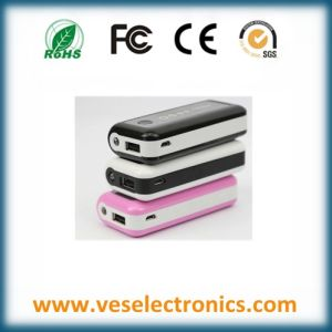 High Quality Li-ion Battery ABS USB Portable Charger High Security A Grade Battery Portable Power Bank pictures & photos
