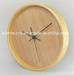 Classic Design Oak Wooden Wall Clock with High Quality