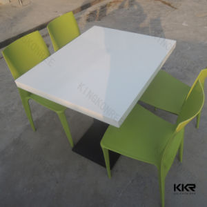 White Stone Restaurant Furniture Fast Food Tables and Chair pictures & photos