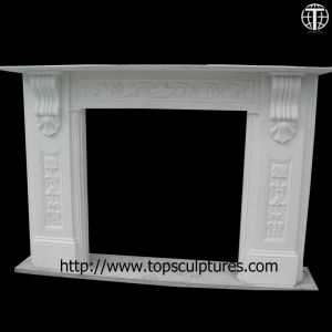 Marble Fireplace Mantel Surround Nature Stone Fireplace pictures & photos