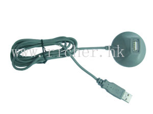 USB 2.0 a Male to a Female Cable on Table