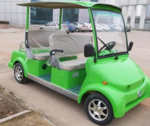 China Colored 4 Seats Electric Tourist Sightseeing Car for Sale pictures & photos