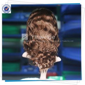 Long Black Human Body Wave Virgin Brazilian Remy Full Lace Wig for Women