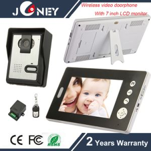 Wireless Video Doorphone with 7 Inch Indoor LCD Monitor pictures & photos