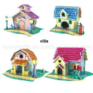 Wholesale Villa 3D Paper Puzzle Toy for Children Toy pictures & photos