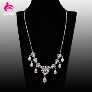 Best Selling White Stone Pendant Necklace for Wedding pictures & photos