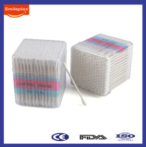 38g Per 100 PCS Paper Cotton Swabs in Cube Box pictures & photos