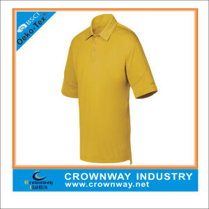 Basic Design Men Golf Wear Polo Tshirt with Honeycomb Fabric pictures & photos