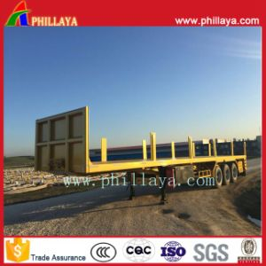 20-40FT Container Truck High Bed 3 Axle Flatbed Semi Trailer pictures & photos