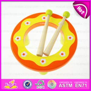 2015 Kids Musical Instrument Toy Hand Drum Wholesale, Cheap Children Percussion Toy Drum, Hot Fashion Wooden Toy Hand Drum W07j034 pictures & photos