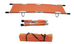 2017 Cheap Patient Transport Portable Emergency 2 Fold Stretchers for Ambulance with Bag pictures & photos