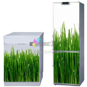 Customized Printing Refrigerator/Freezer/Icebox/Refrigeratory/Fridge Decoration PVC Vinyl Self-Adhesive Decal Sticker