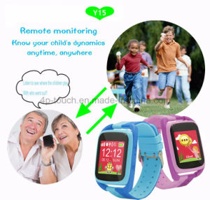 Anti-Dropped Portable Child/Kids GPS Tracker Watch with Fitness Monitoring Y15 pictures & photos