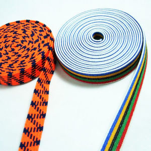 Hot Sale High Quality and Durable Yarn Polyester Elastic Webbing pictures & photos