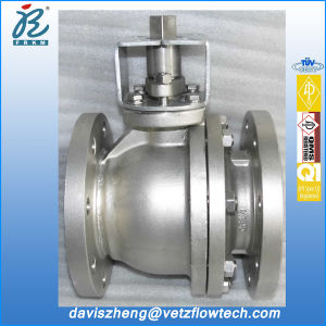 4 in Class150 RF Stainless Steel Fire Safe Anti-Static PTFE Floating Ball Valves with ISO 5211 Mounted Flange