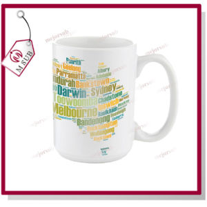 15oz White Mug with Sublimation Personalized Design pictures & photos
