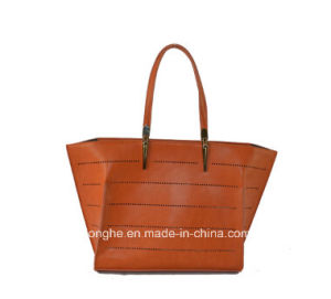 Laser Punching PU Leather Boutique Tote Bags Top Handle Handbags pictures & photos