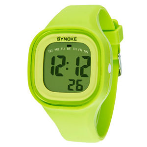 Hotsale Green Color Changeabole Silicone Wristband Digital Jelly Watch pictures & photos