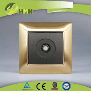 TUV Certified Golden Metal Schuko Socket pictures & photos