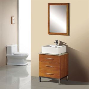 Rustics Solid Wood Floor Standing Single Basin Bathroom Vanity