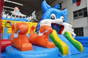 Blue Cat Inflatable Playground Inflatable Funcity Chob153 pictures & photos