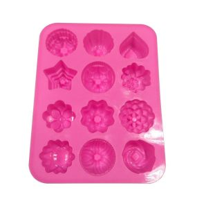 12 Cavity Flowers Silicone Nonstick Cake Bread Mold pictures & photos