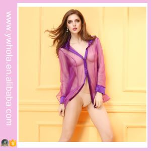 2016 Stylish Hot Sexy Transparent Nighties Sleeping Lingerie pictures & photos