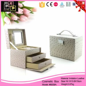 Ostrich Skin Leather Jewelry Box (8008) pictures & photos