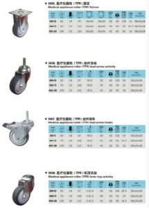 Trolley Fixed Swivel Brake Rubber Industry Caster Wheel pictures & photos