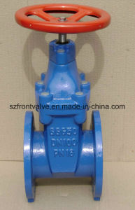 DIN F4 Ductile Iron Resilient Seat Non Rising Stem Gate Valve pictures & photos