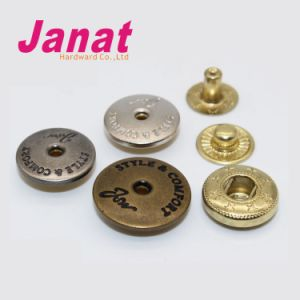 Decorative Metal Snap Button with Down 3 Parts