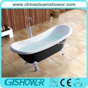 Black Classic Freestanding Soaking Bathtub (BL1010TB) pictures & photos