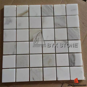 Italian Bianco Calacatta Stone Marble Mosaic for Wall and Floor pictures & photos