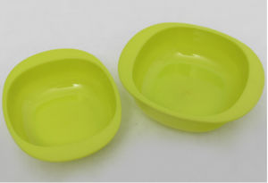 Apple Green Plastic Kitchen Item Children Bowl pictures & photos