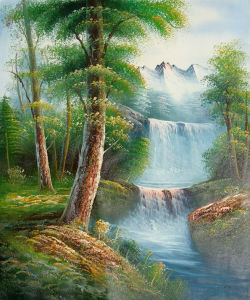Beautiful Lake Natural Scenery Painting (LH-355000) pictures & photos
