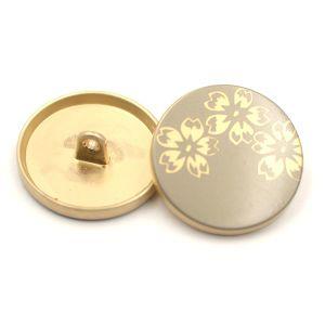 Printed Flower Logo Zinc Alloy Metal Suit Button for Women pictures & photos