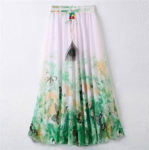 2016 Latest Design Women Printed Chiffon Beach Bohemian Skirt (16701) pictures & photos