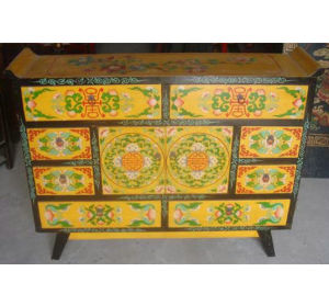 Antique Chinese Painted Buffet Cabinet Lwc276 pictures & photos