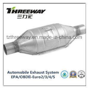 Car Exhaust System Three-Way Catalytic Converter #Twcat006 pictures & photos