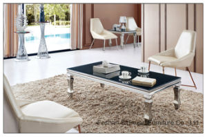 Modern Chinese Furniture Stainless Steel Glass Coffee Table pictures & photos