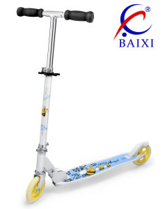 2 Wheel Stunt Plastic Adult Kick Scooter (BX-2MBC125) pictures & photos