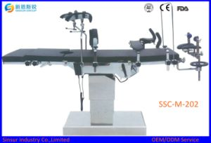 High Quality Fluoroscopic Hospital Manual Hydraulic Operating Surgical Table pictures & photos