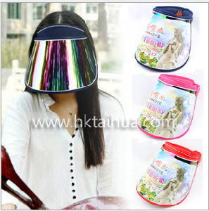 Fashion Plastic Sun Visor Cap with Thp-007 pictures & photos