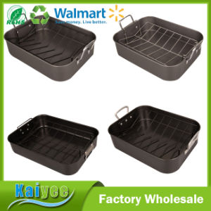 Ovenware Nonstick Bakeware Roasting Pan with Removable Rack pictures & photos