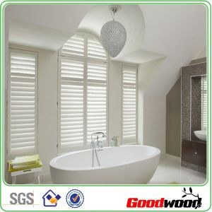 Customized Arch Shape White Painted Faux Wood/PVC Shutters