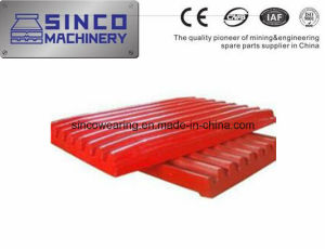 Metso Shanbao Jaw Crusher Parts Jaw Plate in Material of Manganese
