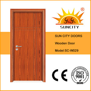 Factory Economic Single Bedroom Wooden Door Design (SC-W029) pictures & photos