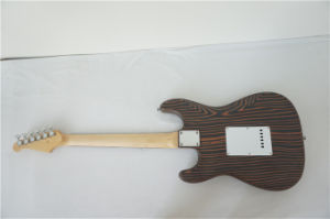 OEM Wholesale Solid Zebrawood Body Strato Type Electric Guitar pictures & photos