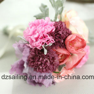 Hot Selling Artificial Bouquet Flower of Rose, Carnation Combination (SF15324)